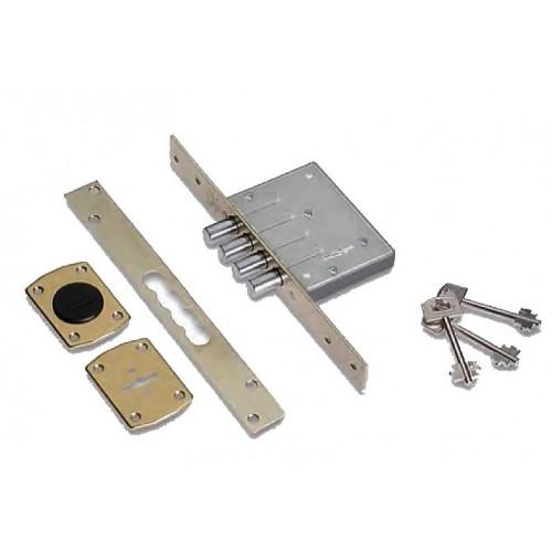 Πρόσθετη κλειδαριά Τρίαινα 4άρων στροφών με 5 κλειδιά SECUREMME