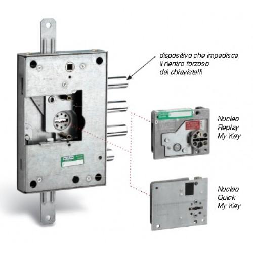 Εσωτερική κλειδαριά θωρακισμένης πόρτας για αλλαγή κλειδιών μάρκας MOTURRA-REPLAY  4 στροφών-αριστερή Προϊόντα