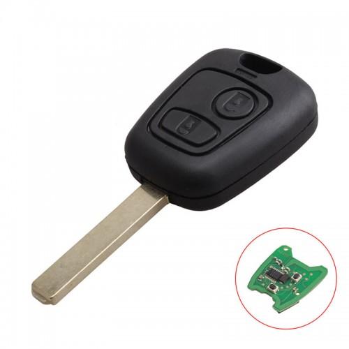 Γεμάτο κλειδί με χειριστήριο και chip για PEUGEOT 307 και λάμα VA2