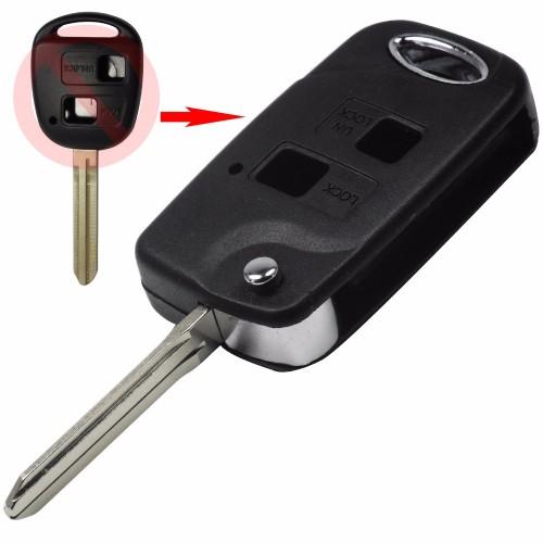 Κέλυφος κλειδιού για Toyota με 2 κουμπιά FLIP και λάμα TOY43 klidia aytokiniton