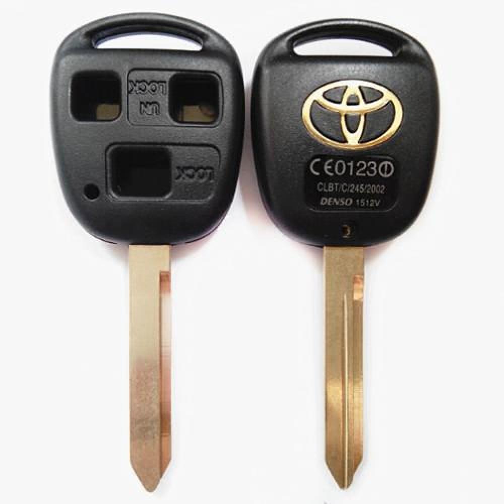 Κέλυφος κλειδιού για Toyota με 3 κουμπιά και λάμα TOY47-Χωρίς λογότυπο