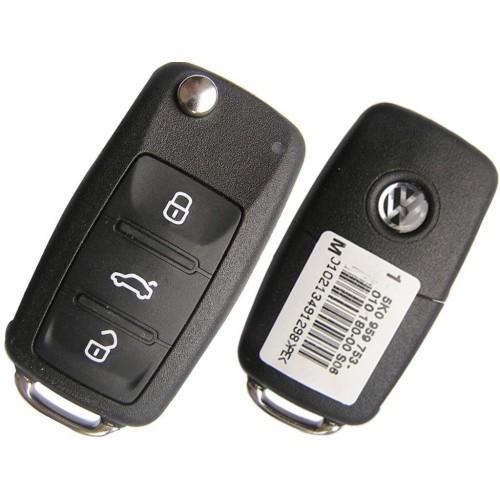 Κομπλέ κλειδί  με τηλεχειριστήριο  και chip για VW Tiguan μονοκόμματο