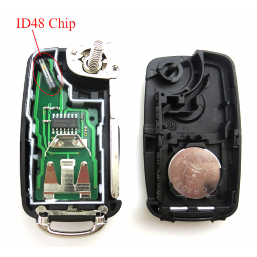 Κομπλέ κλειδί με τηλεχειριστήριο για VW  5K0 837 202 AD