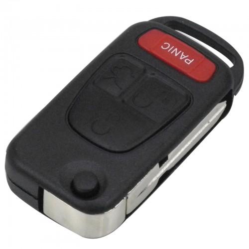 Κέλυφος κλειδιού αυτοκινήτου για Mercedes με 4 κουμπιά και λάμα HU39