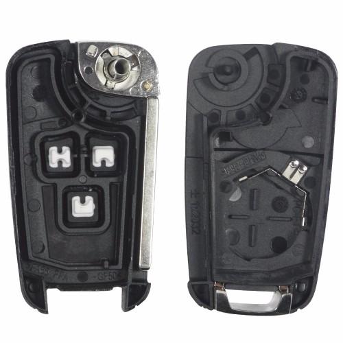 Κλειδί αυτοκινήτου για OPEL ASTRA J  CORSA E και INSIGNIA με 3 κουμπιά και λάμα HU100-με λογότυπο Προσφορές