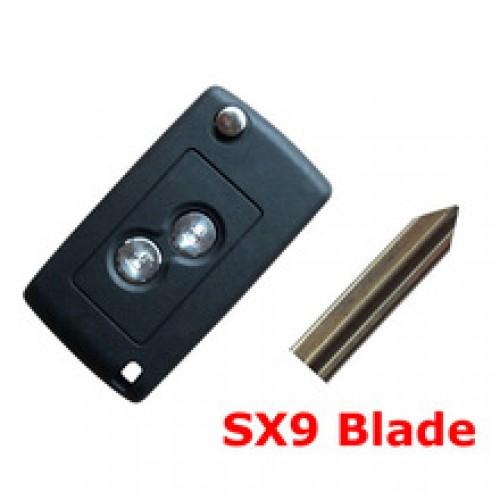 Κέλυφος κλειδιού FLIP για CITROEN με 2 κουμπιά και λάμα SX9 klidia aytokiniton