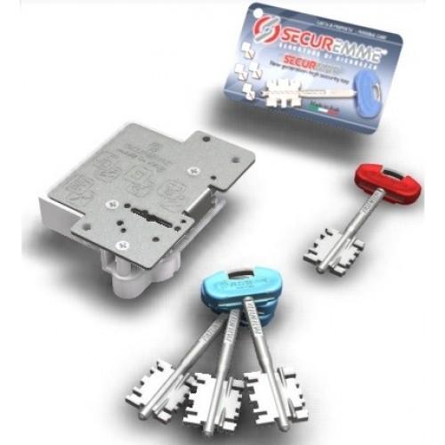 Εσωτερική κλειδαριά θωρακισμένης πόρτας για αλλαγή κλειδιών μάρκας SECUREMME  δεξιά Κλειδαριές